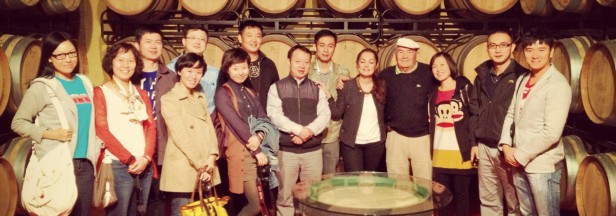 Visitantes chinos en la bodega alavesa Eguren Ugarte